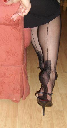 Hot High Heels, Sexy Heels, Strappy Heels, Stiletto Heels, Pantyhose Heels, Stockings Heels, Big Girl Fashion, Womens Fashion, Fully Fashioned Stockings