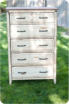 Refinished Dresser. I have an old dresser (was mine as a kid) thinking of doing something like this