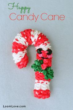 How to Make a Rainbow Loom Happy Candy Cane