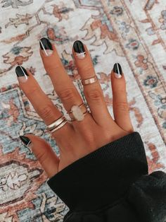 See more of ciarajones's content on VSCO. Simple Acrylic Nails, Acrylic Nail Designs, Round Nail Designs, Black Nail Designs, Stylish Nails, Trendy Nails, Fire Nails, Minimalist Nails, Dream Nails