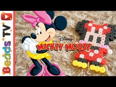 디즈니 미니마우스 펄러비즈 만들기 Disney Minnie Mouse perler beads pattern - YouTube