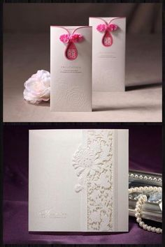 Chinese wedding invitation. I'd want it even more subtle (assuming I do hard copy invitations at all).