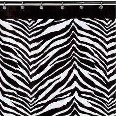 Creative Bath Zebra Shower Curtain -- Use in Place of Closet Doors