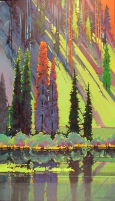 Mountain Patterns by Equity Mine  - Stephen Quiller #tree #art