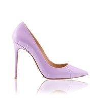 'PARIS'  4' Lilac Patent Leather Pointy Toe Heels