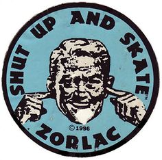 Vintage Zorlac Skateboard Sticker