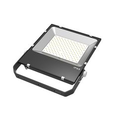 LED Flood Light Smart Compact Fin 100-240V 120° 4500K IP65 Philips 3030 150 80RA 15000LM 0.9 100LM/W 150W Black
