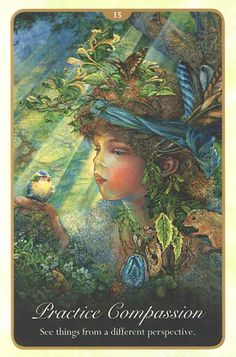 """""""15 Practice Compassion 2"""" Oracle Cards Whispers of Love par Josephine Wall and Angela Hartfield"""