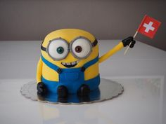 Cake minion, swiss flag