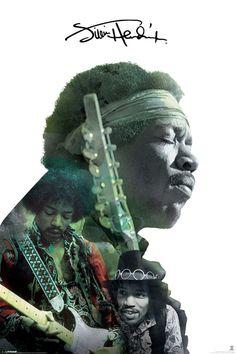 Poster: Jimi Hendrix - double exposure online te koop. Bestel je poster, je 3d filmposter of soortgelijk product Maxi Poster