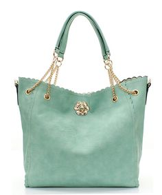 Milla 2 in 1 Tote Set in Soft Mint on Emma Stine Limited | Interior Bag w/  shoulder strap
