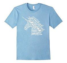 Amazon.com: I'm A Magical Unicorn   Fun Word Cloud Design T-Shirt: Clothing