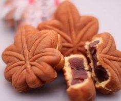 #Cucinagiapponese: i #momiji  #manju dolcetti ripieni di marmellata di anko, tipici della stagione autunnale
