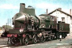 Les locomotives a vapeur dites la Grosse C PLM, locomotives légendaires, trains de légende. Futuristic, Trains, Train
