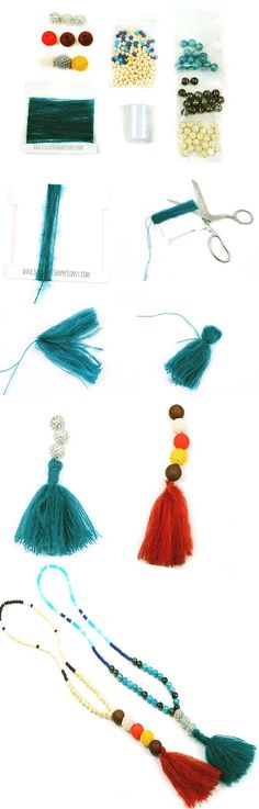 Tassel necklaces have been popping up everywhere- save money when you make your own with this beaded tassel necklace tutorial. So cute and easy to make- and for a fraction of the price that boutique shops are charging!