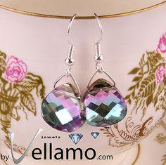 Earrings with light purple light blue shades Vitrail by byVellamo, $24.00