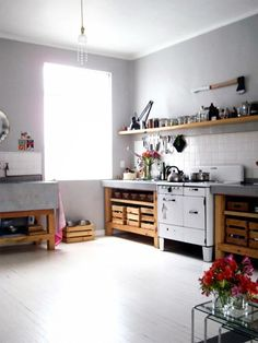 I have come to the conclusion that I like white slightly rustic kitchens. Thank you, Pinterest