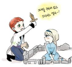 """shes like """"Hans destroy my castle and i will freeze you."""""""