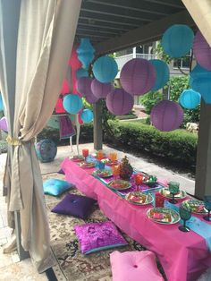 Giselle D's Birthday / Jasmine Alasddin - Photo Gallery at Catch My Party Aladdin Birthday Party, Aladdin Party, 4th Birthday Parties, Girl Birthday, Princess Birthday, Jasmin Party, Princess Jasmine Party, Disney Princess Party, Arabian Party