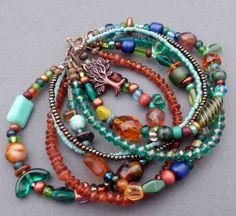 Eclectic multi strand bracelet
