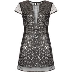 **LIMITED EDITION Sequin Organza Shift Dress ($300) ❤ liked on Polyvore