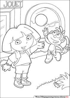 Dibujos de Dora la Exploradora para Imprimir y Colorear