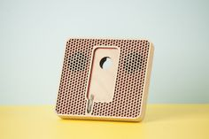 "Wood'd PLAIN POD WITH SPEAKERS ""POIS"" - RED-"