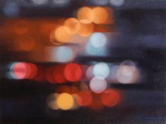Light Train, by Philip Barlow, Oil on canvas, 75 x 100cm