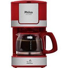foto: Cafeteira PH16 Inox Vermelha - Philco