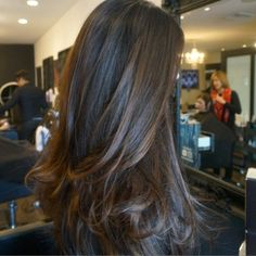 Subtle balayage highlights More