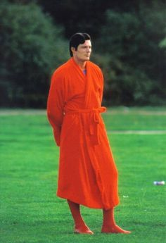 Superman IV: The Quest for Peace (1987)   Behind the scenes photo of Christopher Reeves.