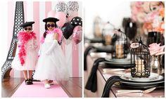 Decoração de festa para tema Paris superfofa e pink