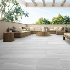 Update your outdoor spaces with the latest designs in non-slip outdoor tiles from WOMAG. Deck Tile, Patio Tiles, Outdoor Flooring, Outdoor Porcelain Tile, Porcelain Tiles, Outdoor Pavers, Garden Tiles, Exterior Tiles, Backyard Patio Designs