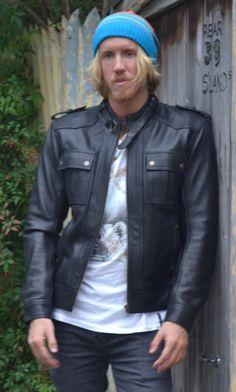 Retro leather jacket $449 -