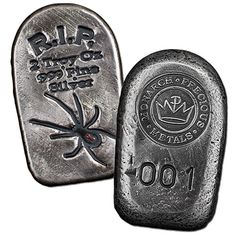 2 oz Monarch Tombstone Black Widow Silver Bars from JM Bullion™ Bullion Coins, Silver Bars, Black Widow, Precious Metals, Cufflinks, Personalized Items, Stuff To Buy, Accessories, Beautiful