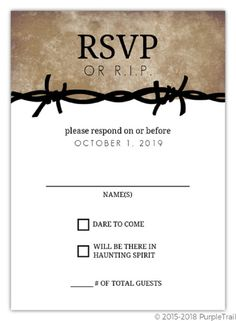 halloween wedding invitations and rsvp cards