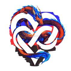 """Polyamory Pride Dragon"" by kaenith | Redbubble"