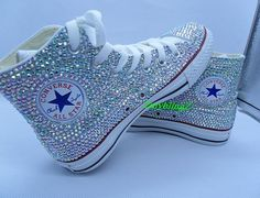 Flat+Bling+Shoes+converse+bling+shoes+wedding+by+ZmyblingZ+on+Etsy,+$185.00