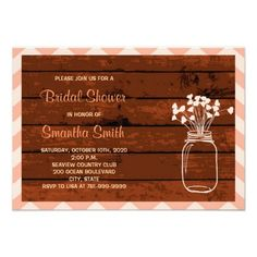 Now it's your turn to pop the big question! Ask your girls to be with you on your special day with Wood bridal party proposal cards from Zazzle! Wedding Shower Invitations, Invites, Barn Wood, Special Day, Proposal, Rsvp, Mason Jars, Party