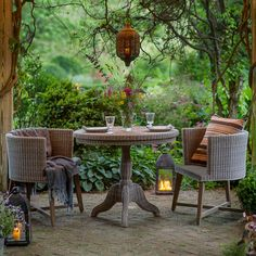 """Pairing a lightweight, synthetic rattan top with rattan-wrapped teak legs, this bistro table was designed and crafted especially for terrain.- A terrain exclusive- Teak wood, polyrattan- Indoor or outdoor use- Clean wicker with mild soap and water- Top: 3.5""""H- Imported29.9""""H, 35.4"""" diameter"""