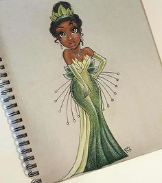 The Princess and the Frog Tiyana drawn from Christina Lorre