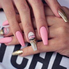 - Gucci Nails - Ideas of Gucci Nails - Edgy Nails, Stylish Nails, Trendy Nails, Swag Nails, Pink Nails, Cute Nails, Pink Nail Art, Drip Nails, Glow Nails