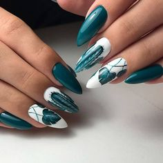 Autumn nails Extraordinary nails Ideas of colorful nails Leaves nails Long nails Nail art decoration Nails ideas 2019 Nails trends 2020 Long Nail Designs, Best Nail Art Designs, Acrylic Nail Designs, Nail Swag, Short Almond Nails, Blue Coffin Nails, Nail Art Design Gallery, Long Gel Nails, Almond Nails Designs