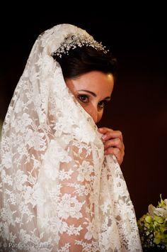 Véu e Grinalda ou Tiara para noivas: 100 Fotos para você escolher