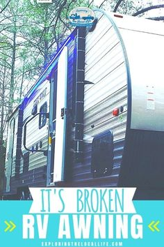 Torn RV Awning Disaster!! Find out how our awning torn and how you can prevent it from happening to yours. Living On The Road, Rv Living, Small Rv, Rv Homes, Rv Organization, Rv Tips, Space Saving Storage, Rv Parks, Rv Travel
