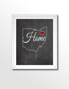 $5 Printable State Chalkboard Art. Download, print and frame. That easy!    -----> Dont see your state. Contact me so we can make yours!