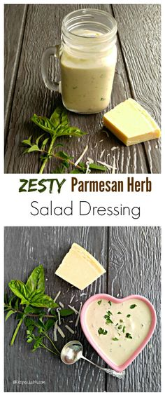 This Parmesan Herb Salad Dressing has a zesty and creamy taste that will really enhance the flavor of your salad greens - recipesjust4u.com #FreschEats #ad