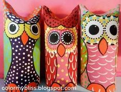 Toilet Paper Tube Owls | 22 Cool Kids Crafts You Can Make From Toilet Paper Tubes