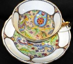 Star Paragon Woodstock Paisley Tea cup and saucer by jaegest