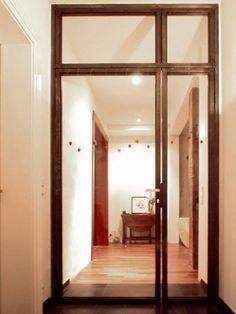 glast r mit stahlrahmen pulverbeschichtet alpers metallbau feldkirchen diele flur pinterest. Black Bedroom Furniture Sets. Home Design Ideas